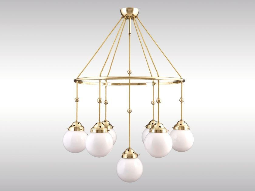 Classic style brass pendant lamp BRIONI - Woka Lamps Vienna