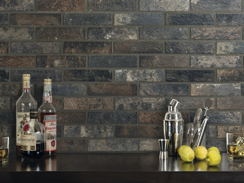 Porcelain stoneware wall tiles with stone effect BRISTOL | Wall tiles - Ceramica Rondine