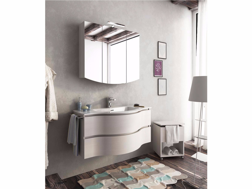 Single wall-mounted vanity unit with drawers BROADWAY B13 - LEGNOBAGNO