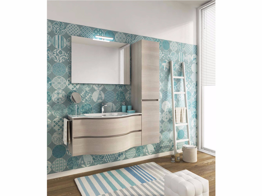Single wall-mounted vanity unit with drawers BROADWAY B15 - LEGNOBAGNO