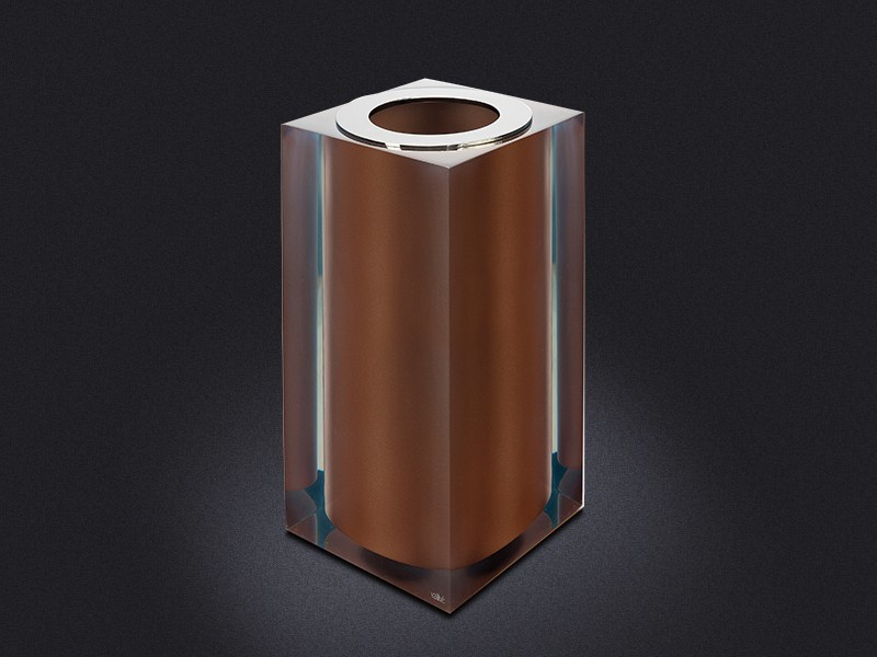 Resin bathroom waste bin BRONZE GLOSS SMALL | Resin bathroom waste bin - Vallvé Bathroom Boutique