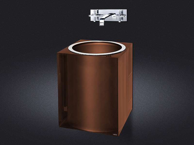 Wall-mounted resin washbasin BRONZE GLOSS | Washbasin - Vallvé Bathroom Boutique