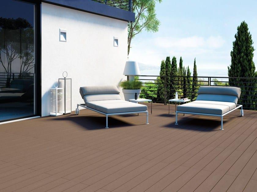 Pavimento per esterni in materiale composito effetto legno EXTERNO BROWN Collezione Externo by ...