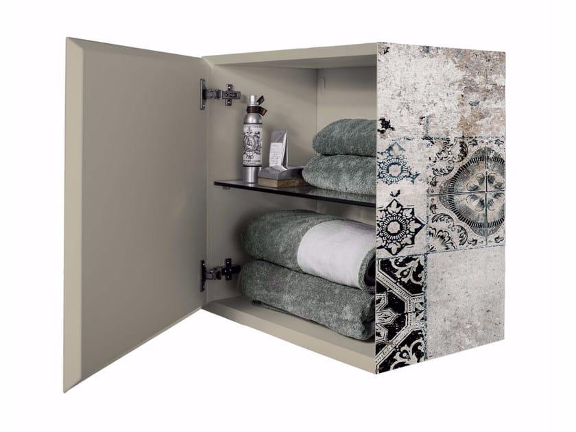 Printed hung cabinet with door BS-1 - MOMENTI di Bagnai Matteo