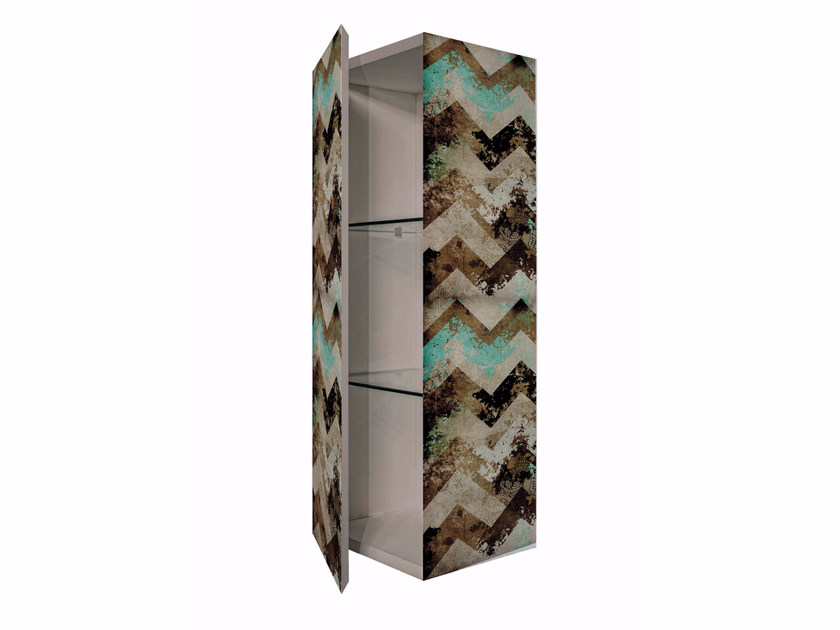 Tall MDF wall cabinet with door BS-3 by MOMENTI