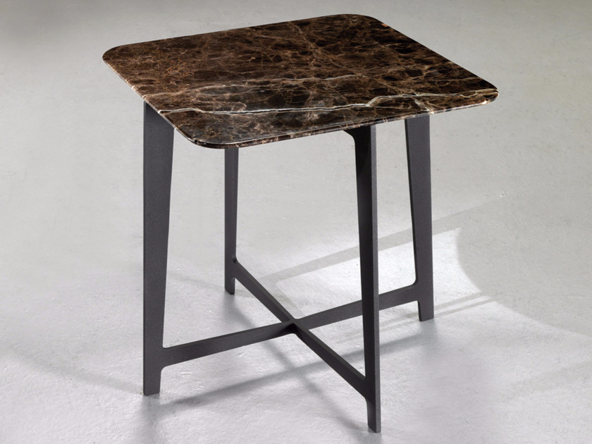 Square marble coffee table B170   Square coffee table by Borzalino