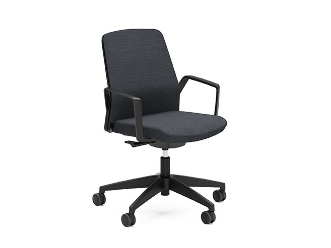 Ergonomic swivel fabric task chair BUDDY IS3 260B by Interstuhl