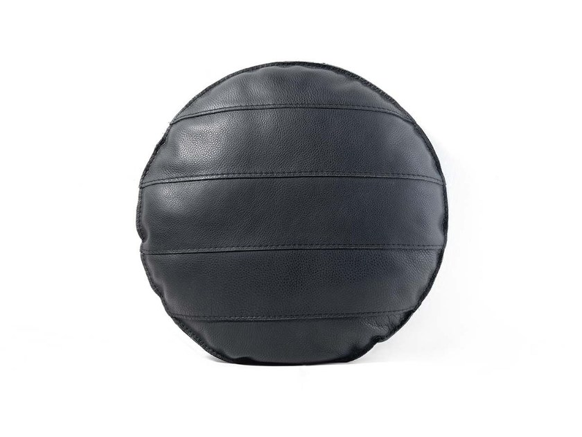 Round leather cushion BANDY UT - FRIGERIO POLTRONE E DIVANI