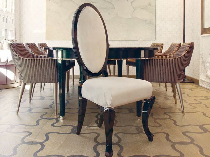 Medallion high-back velvet chair BUZZI - Formitalia Group