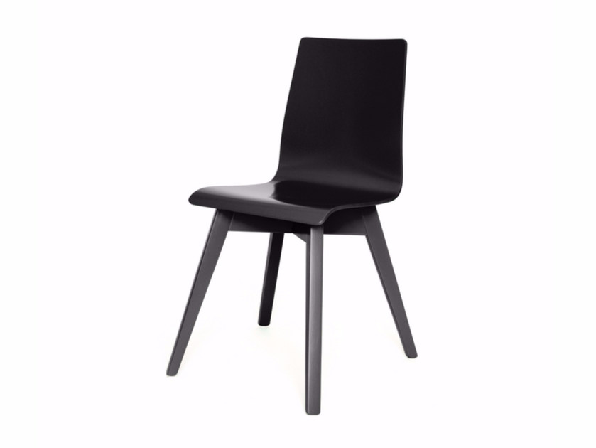 Lacquered wooden chair BUZZY - Z-Editions