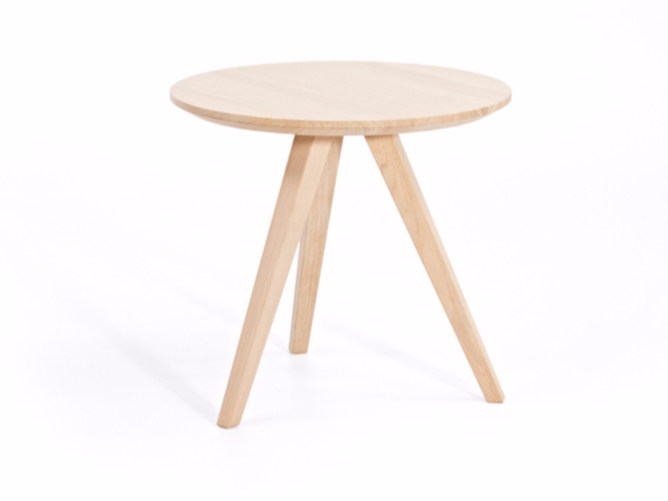 Round wooden coffee table BUZZY T H47 | Round coffee table - Z-Editions
