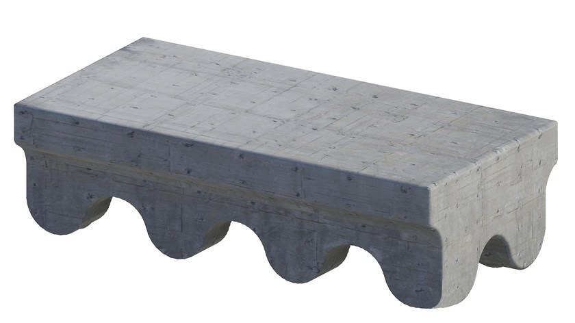 Backless cement bench seating C.A. - Paolo Castelli