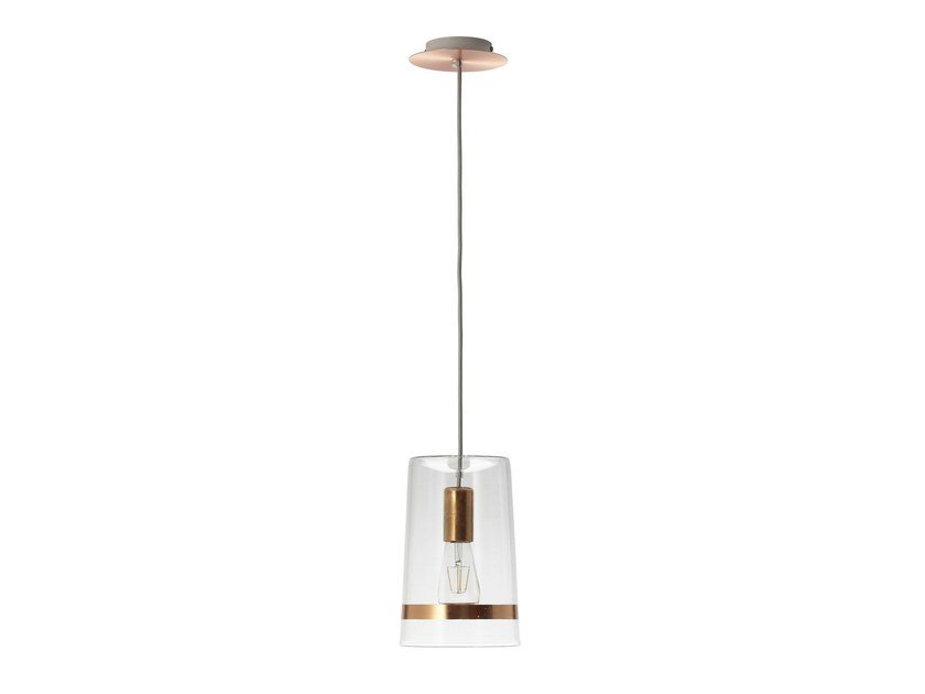 Glass pendant lamp C1 CHIC COPPER - Hind Rabii