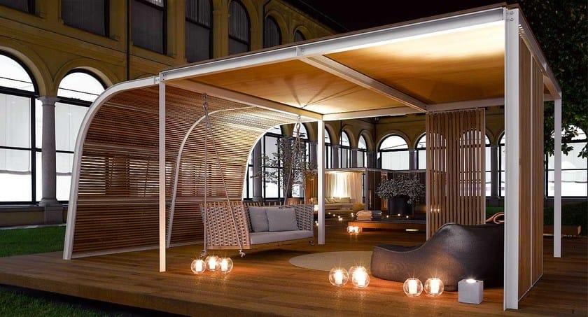 Gazebo in legno cabanne modulo veranda paola lenti for Piani di veranda anteriore