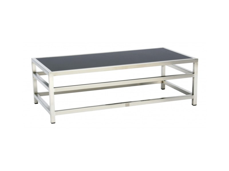 Rectangular stainless steel coffee table CABO | Coffee table - 7OCEANS DESIGNS