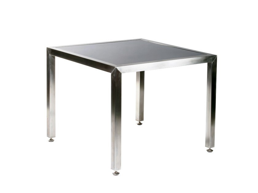 Square stainless steel dining table CABO | Square table by 7OCEANS DESIGNS