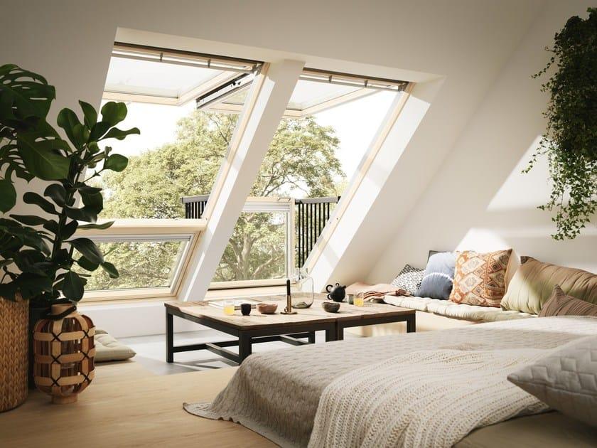 Balcone finestra con apertura a vasistas cabrio by velux for Infissi velux prezzi
