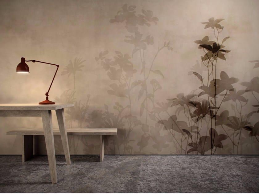 Washable vinyl wallpaper with floral pattern CAFÉ DE FLORE - GLAMORA