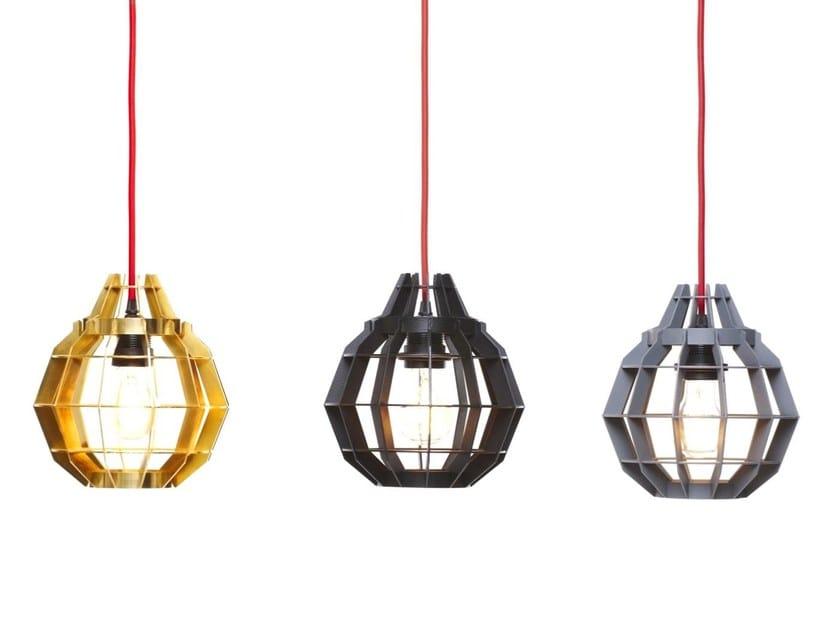 Aluminium pendant lamp CAGE - Dare Studio