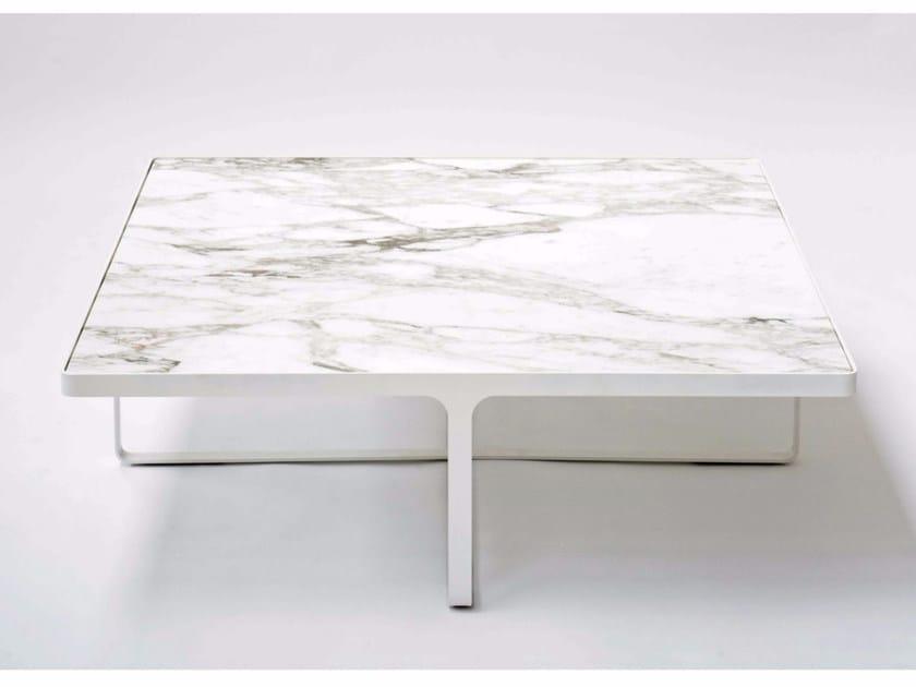 Square marble coffee table CAGE | Square coffee table - Tacchini Italia Forniture