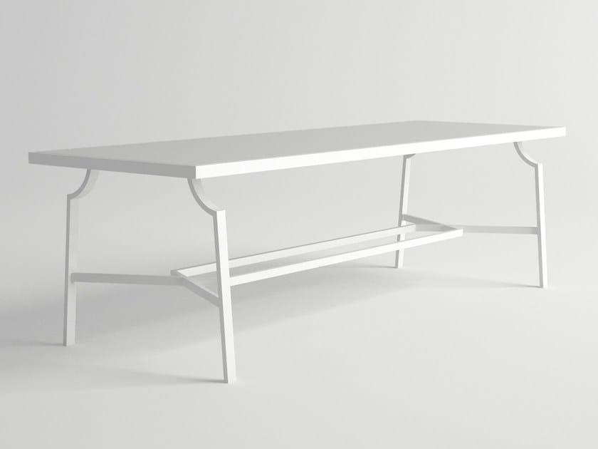 Rectangular aluminium garden table CALDERA   Rectangular table - 10Deka