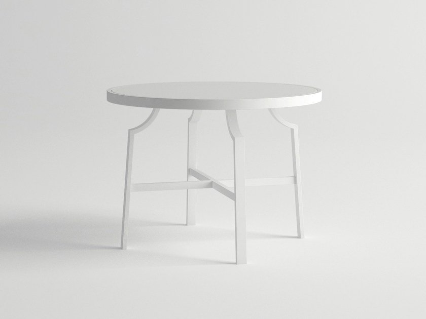 Round aluminium garden table CALDERA | Round table - 10Deka