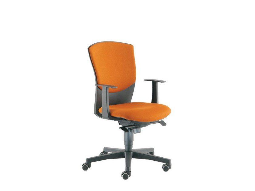 Swivel task chair with armrests CALIBRA LIGHT | Task chair with armrests - Sesta