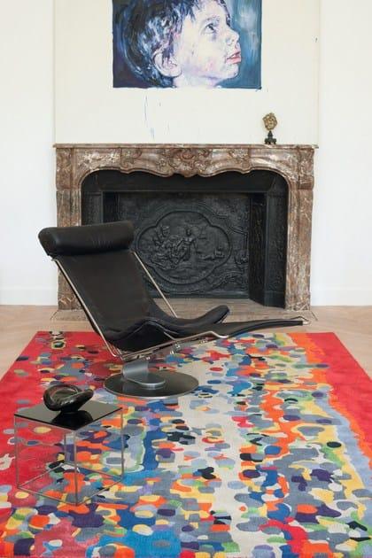 Patterned rectangular wool rug CALIFORNIA - Toulemonde Bochart