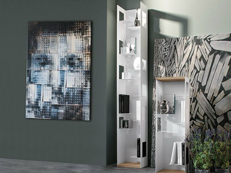 Open freestanding metal bookcase CALIPSO - Ronda Design
