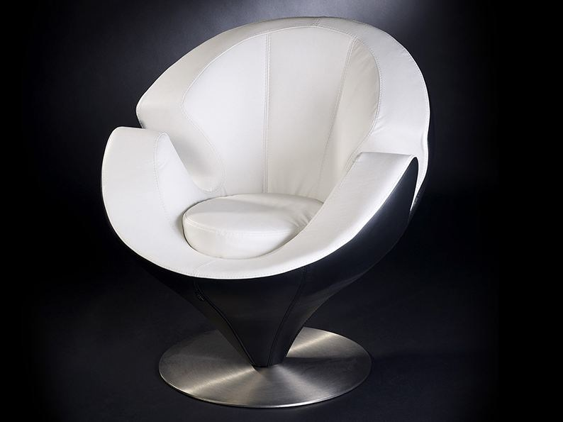 Leather armchair with armrests CALLA - VGnewtrend
