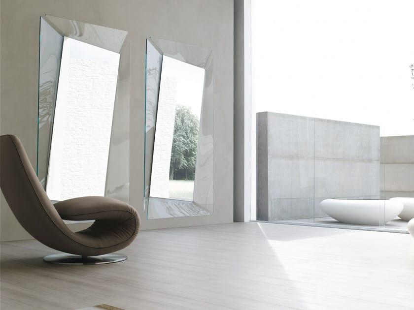 Rectangular wall-mounted mirror CALLAS by Tonin Casa