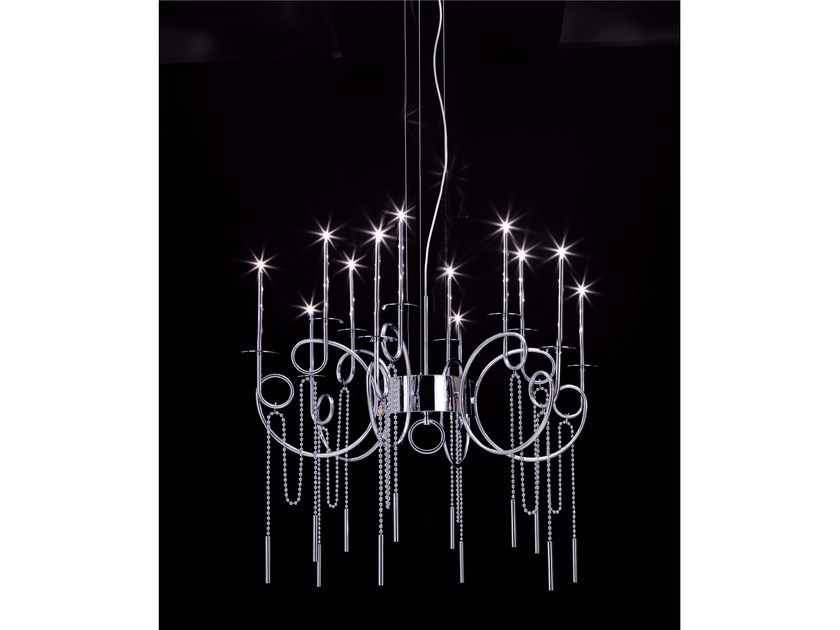 LED steel pendant lamp CALLIGRAFICO NITY 12C | LED pendant lamp - SP Light and Design