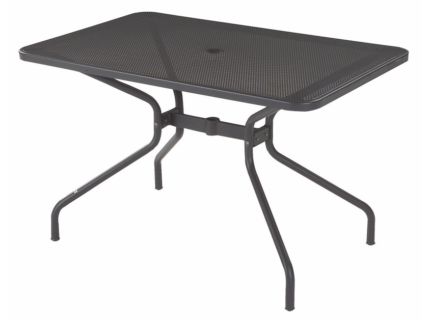 Rectangular steel garden table CAMBI | Rectangular table by emu