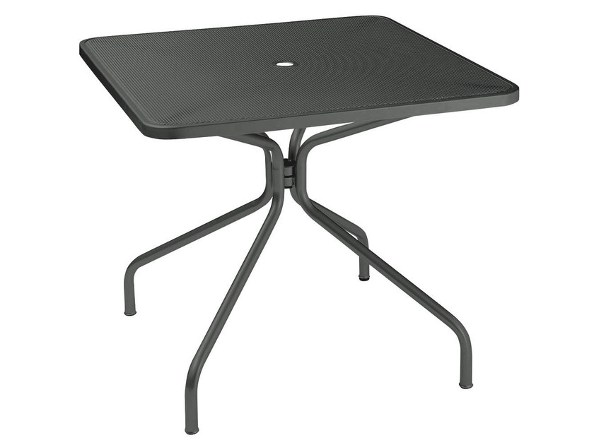 Square steel garden table CAMBI | Square table by emu