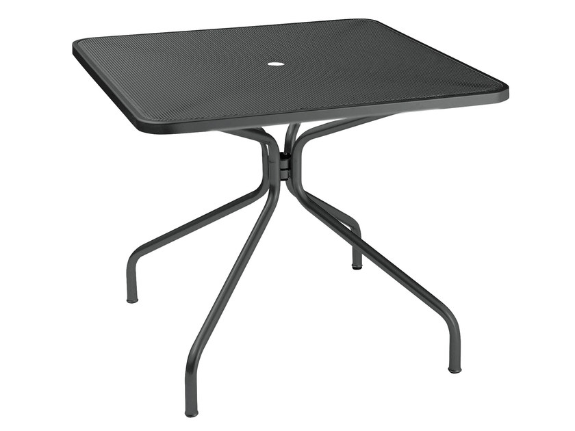 Square steel garden table CAMBI | Square table - EMU Group S.p.A.