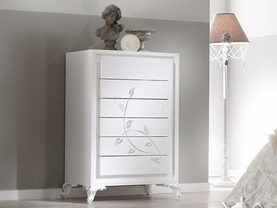 Free standing solid wood chest of drawers CAMELIA | Chest of drawers - Arvestyle