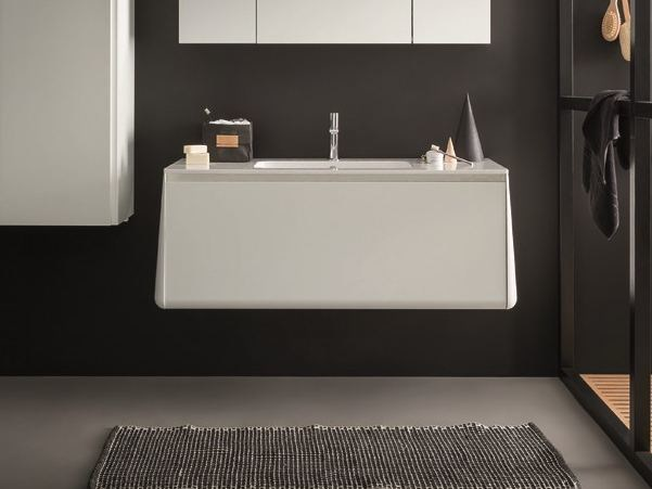 Lacquered vanity unit with drawers CAMPUS | Lacquered vanity unit - Birex