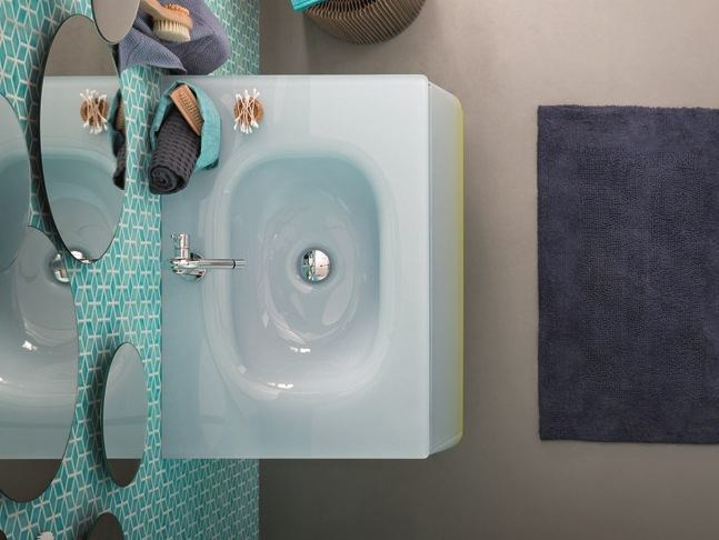 Inset rectangular glass washbasin CAMPUS | Washbasin - Birex