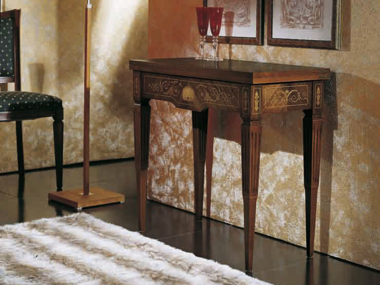 Extending solid wood console table CANALETTO | Rectangular console table by Arvestyle