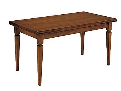 Extending solid wood table CANALETTO | Rectangular table - Arvestyle