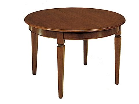 Extending solid wood table CANALETTO | Round table by Arvestyle