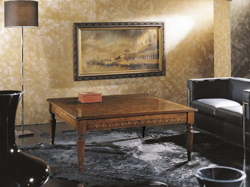 Square solid wood coffee table CANALETTO | Square coffee table - Arvestyle