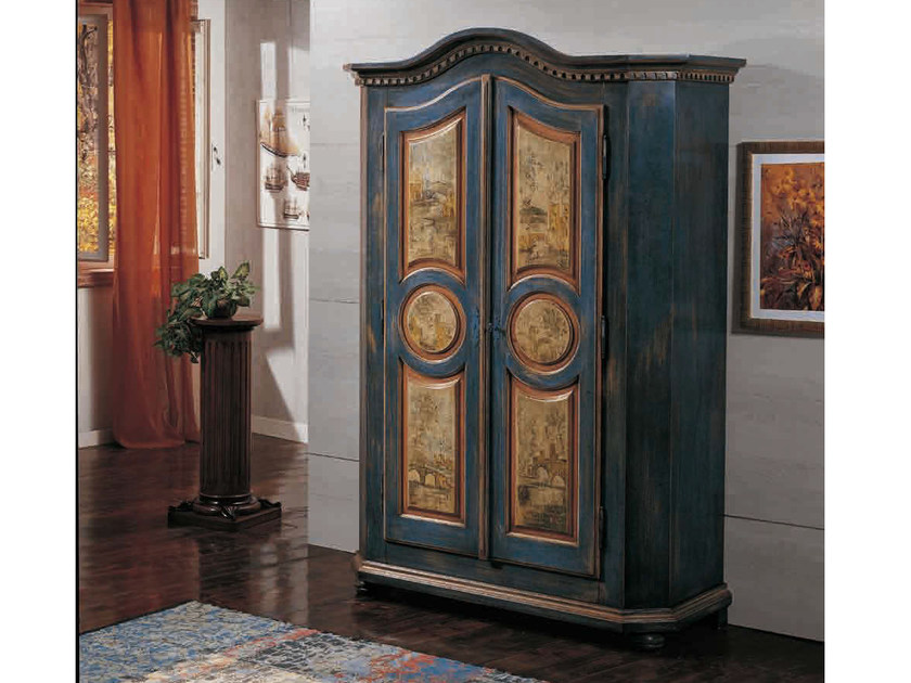 Lacquered solid wood wardrobe CANALETTO | Wardrobe by Arvestyle