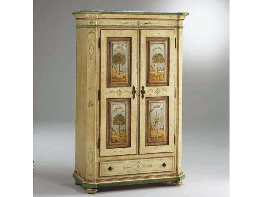 Lacquered wardrobe with drawers CANALETTO | Wardrobe with drawers - Arvestyle