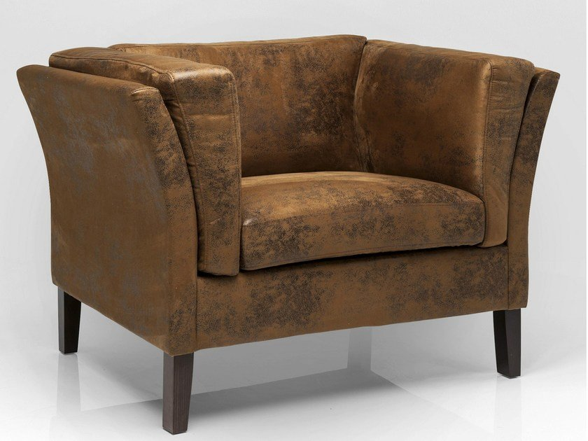 Vintage style leather armchair with armrests CANAPEE VINTAGE ECO | Armchair - KARE-DESIGN