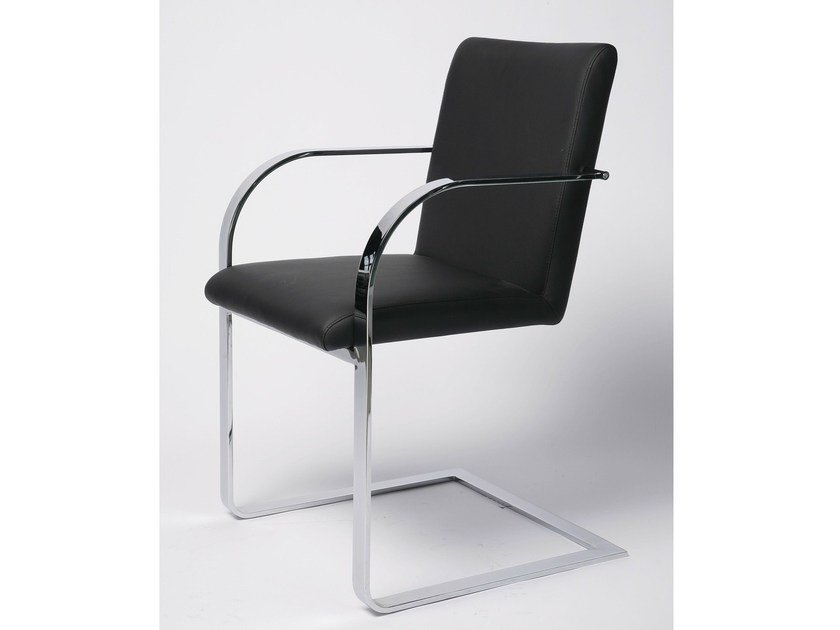 Cantilever fabric easy chair with armrests CANDODO BLACK - KARE-DESIGN