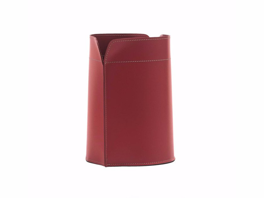 Bonded leather waste paper bin CANISTRO by LIMAC design FIRESTYLE