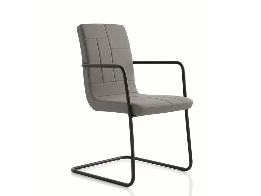 Cantilever training chair with armrests PLAN CHAIR | Cantilever training chair by Emmegi