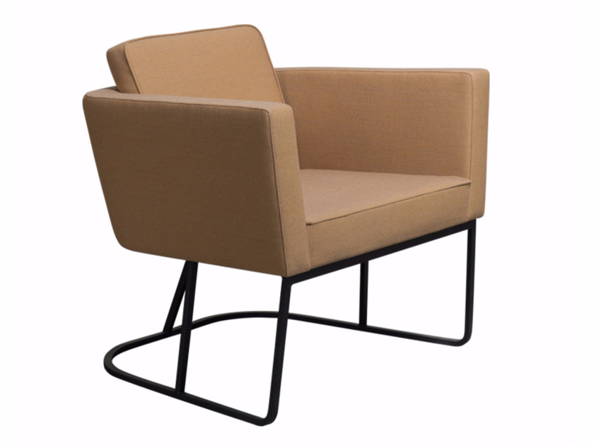 Fabric armchair with armrests CAPE | Armchair with armrests by Palau