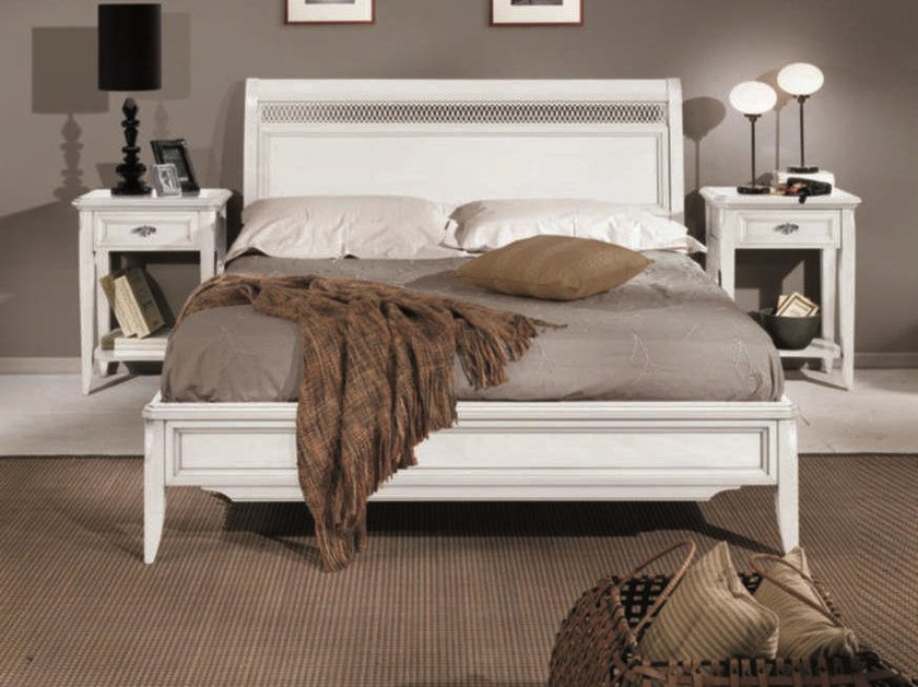 Solid wood double bed CAPRI | Lacquered bed by Arvestyle